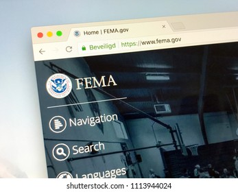 Amsterdam, Netherlands - June 14, 2018: Official American agency website The Federal Emergency Management Agency or simply FEMA.