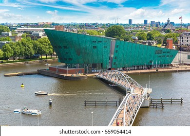 AMSTERDAM, THE NETHERLANDS - JUNE 16, 2016: Science Center NEMO - science educational museum 