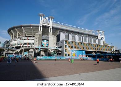 AMSTERDAM, NETHERLANDS - JUNE 17, 2021: Johan Cruijff ArenA (Amsterdam Arena). EURO 2020. The football match Austria vs Netherlands
