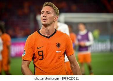 AMSTERDAM, Netherlands - JUNE 17, 2021: European Football Championship UEFA EURO 2020. Luuk de Jong during the match between team of the Netherlands against Austria,  Netherlands