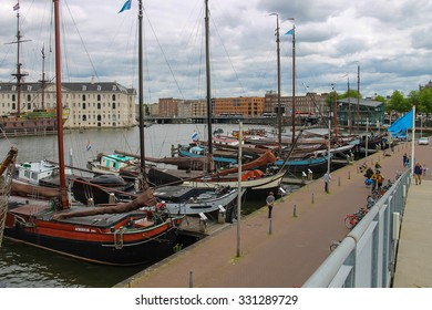 Amsterdam, Netherlands - June 20, 2015: Ships - exhibits the Netherlands Maritime Museum in Amsterdam