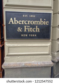 Amsterdam / Netherlands - June 2016: Abercrombie & Fitch logo and boutique.