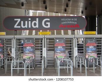 Amsterdam / Netherlands - June 2016: Amsterdam Arena Stadium entrance, Amsterdam, Netherlands.