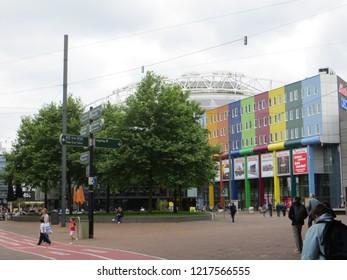 Amsterdam / Netherlands - June 2016: Outside Amsterdam Arena Stadium, Amsterdam, Netherlands.