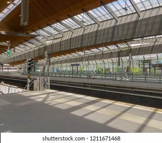 Amsterdam / Netherlands - June 2016:Amsterdam Bijlmer ArenA metro station.
