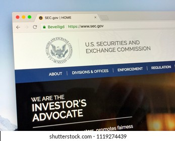 Amsterdam, the Netherlands - June 24, 2018: Website of The U.S. Securities and Exchange Commission or SEC, an independent agency of the United States federal government.