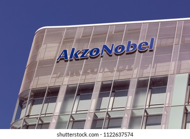Amsterdam, Netherlands -june 28, 2018: Akzo Nobel building in Amsterdam, Holland
