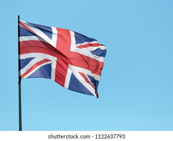 Amsterdam, Netherlands -june 28, 2018: Brittisch flag in amstedam, Holland