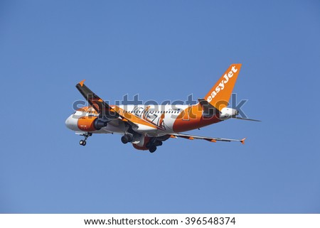 AMSTERDAM NETHERLANDS MARCH 13 Easy Jet Airbus Stock Photo