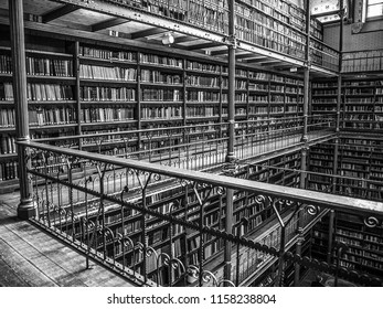 AMSTERDAM, NETHERLANDS - MARCH 15, 2016: Old library of Rijksmuseum, Amsterdam. Library is the largest public art history research place in Holland on March 15, 2016 in Amsterdam - Netherland.