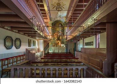 AMSTERDAM, NETHERLANDS, - MARCH, 19, 2018: Ons Lieve Heer op Solder, Our Lord in the Attic, a secret house Church spanning three townhouses in Amsterdam, Netherlands, Holland.