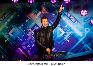 Amsterdam, Netherlands - March, 2017: Wax figure of Dutch DJ, record producer and remixer Robbert van de Corput known as Hardwell in Madame Tussauds Wax museum in Amsterdam, Netherlands