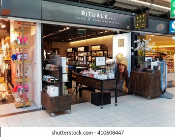 AMSTERDAM, NETHERLANDS - MARCH 25, 2016. Rituals Home and Body Cosmetics Store in Schiphol Plaza, Amsterdam.