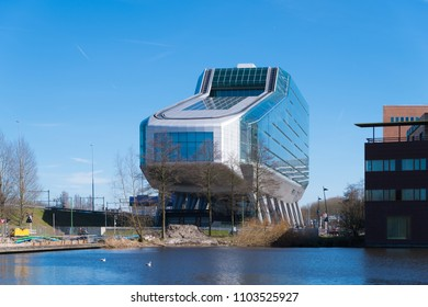 AMSTERDAM,  NETHERLANDS - MARCH 25, 2017: Exterior of the former ING House, but nowadays the building is used as a building for various businesses under the name Infinity.