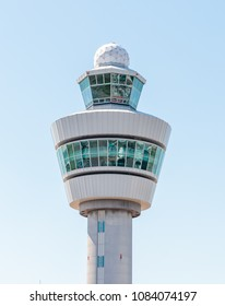 Amsterdam, Netherlands - May 04, 2018: The Air Traffic control Tower at Schiphol Airport