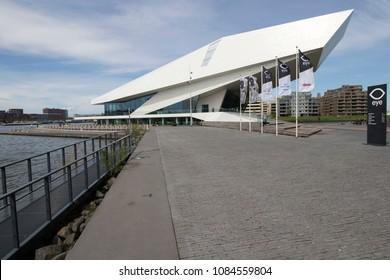 AMSTERDAM , THE NETHERLANDS – May 1 , 2018 : Eye film museum Amsterdam.