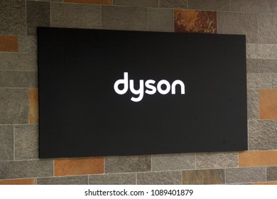 Amsterdam, Netherlands -may 12, 2018: Letters Dyson on a building in Amsterdam