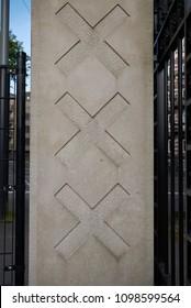 Amsterdam, Netherlands - May 16, 2018: The Triple X, Amsterdam City Symbol
