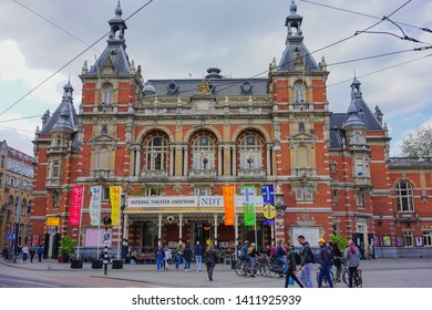 Amsterdam, Netherlands - May 24 2019: The famous International Theater of Amsterdam.