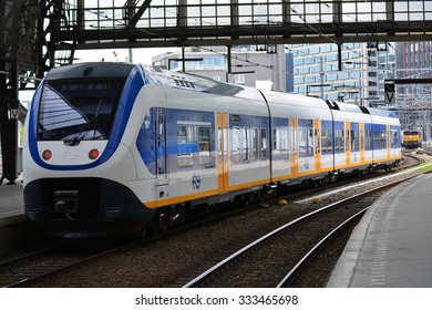 AMSTERDAM, NETHERLANDS - MAY 25, 2015: Station Amsterdam Centraal.Station Amsterdam Centraal is the largest railway station of Amsterdam, Netherlands.