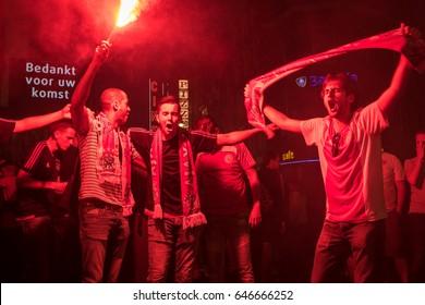 AMSTERDAM, THE NETHERLANDS - May 25 2017 - Europa League Celebration