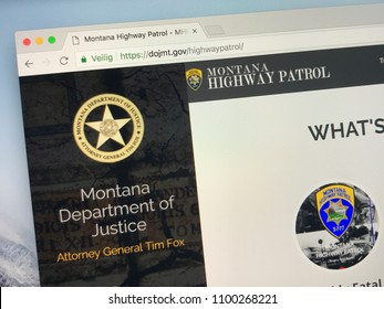 Amsterdam, Netherlands - May 28, 2018: Website of The Montana Highway Patrol (MHP), the highway patrol agency for the U.S. state of Montana.