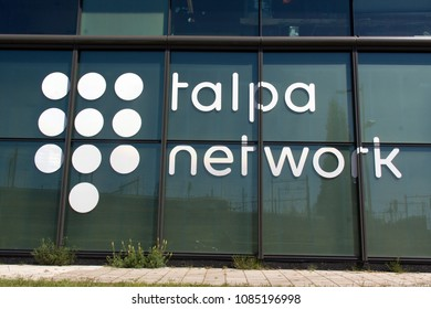 Amsterdam, Netherlands -may 7, 2018: letters Talpa network on the office in Amsterdam