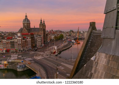 Amsterdam, The Netherlands - Monday, November 5, 2018 - View from Amsterdam Central Station