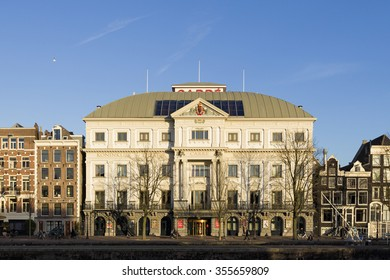 AMSTERDAM, NETHERLANDS - NOVEMBER 26: Exterior of Royal Theater Carre, the official theatre of Amsterdam, on November 26, 2015 in Amsterdam, Netherlands.