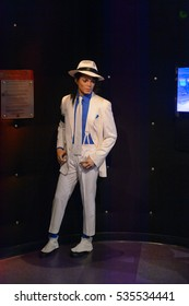 AMSTERDAM, NETHERLANDS - OCT 26, 2016: Michael Jackson, Madame Tussauds wax museum in Amsterdam. One of the popular touristic attractions