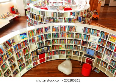 AMSTERDAM, NETHERLANDS - OCTOBER 09: Children's department in Central Public Library of Amsterdam on October 09, 2014. This library is the biggest in Netherlands