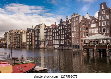 Amsterdam, Netherlands - October 18, 2018: Stunning Canal Houses in Amsterdam