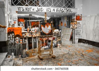 Amsterdam, The Netherlands - October, 2012. Art Studio.