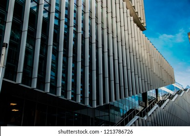 Amsterdam, Netherlands - October 27,2018: Modern architecture at the Zuidas