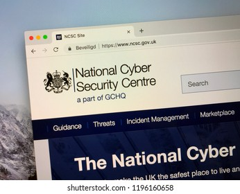 Amsterdam, Netherlands - October 6, 2018: Website of The United Kingdom National Cyber Security Centre.
