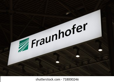 Amsterdam, Netherlands -september 15, 2017: Fraunhofer letters at the IBC convention in amsterdam