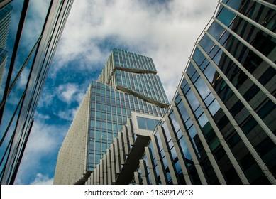 Amsterdam, Netherlands - September 19,2018: Modern architecture at the Zuidas