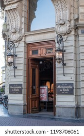 Amsterdam, Netherlands - September 2018: Abercrombie & Fitch store exterior