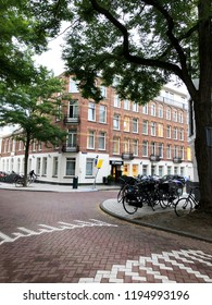 Amsterdam, Netherlands - SEPTEMBER 30, 2018: View of Hotel XO Inner at museum quartier, Old Amsterdam, Holland