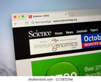Amsterdam, the Netherlands - September 4, 2018: Website of Science Magazine, a peer-reviewed academic journal of the American Association for the Advancement of Science (AAAS).