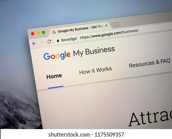Amsterdam, the Netherlands - September 9, 2018: Website of Google My Business, a tool for businesses and organizations to manage their online presence across Google.