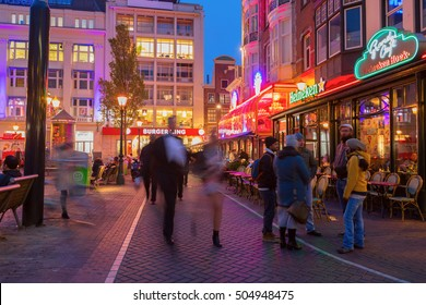 Amsterdam, The Netherlands - Tuesday, October 25, 2016 - City streets of Leidseplein/Leidsebuurt area