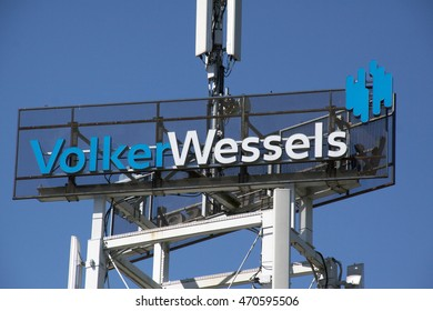Amsterdam, Netherlands-august 18, 2016: letters volkertwessels a dutch construction company