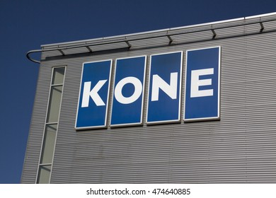 Amsterdam, Netherlands-august 25, 2016: letters kone on a wall