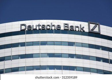 Amsterdam , Netherlands-august 30, 2015: office of the Deutsche bank in Amsterdam