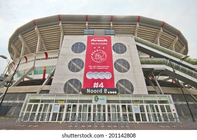 AMSTERDAM, THE NETHERLANDS-CIRCA MAY 2014: Amsterdam Arena - official playground of FC Ajax