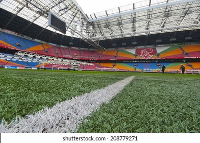 AMSTERDAM, THE NETHERLANDS-CIRCA MAY 2014: On a tour at the Amsterdam Arena