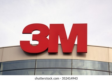 Amsterdam, Netherlands-december 17, 2015: 3M multinational technology group. 3M is the general public primarily known for the Post-it  Notes and Scotch  Tapes.