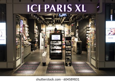 Amsterdam, Netherlands-march 11, 2017: ici paris xl store in Amsterdam