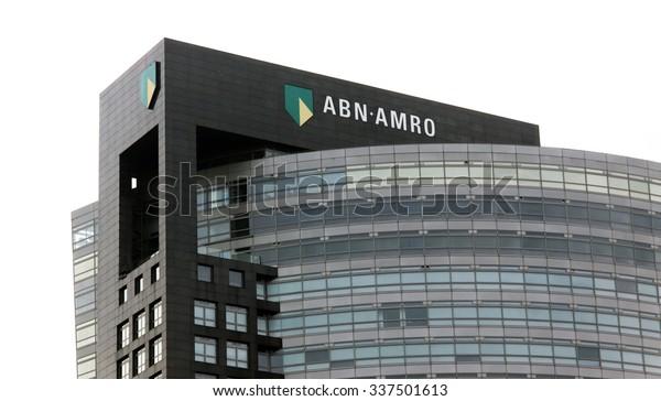 Amsterdam, Netherlands-november 8, 2015: Head office of abn amro bank in amsterdam